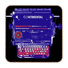 Continental Typewriter by Romi Vega Framed Graphic Art Plaque