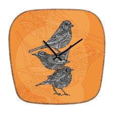 Valentina Ramos 3 Little Birds Wall Clock