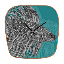 <strong>DENY Designs</strong> Valentina Ramos Beta Fish Wall Clock