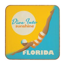 Dive Florida by Anderson Design Group Framed Vintage Advertisement Plaque