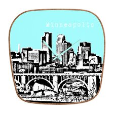 <strong>DENY Designs</strong> Bird Ave Minneapolis Wall Clock