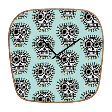 Andi Bird Sugar Skull Wall Clock