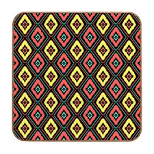 Zig Zag Ikat by Jennifer Denty Framed Graphic Art Plaque