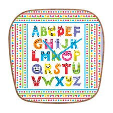 Andi Bird Alphabet Monsters Wall Clock