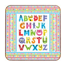 <strong>DENY Designs</strong> Andi Bird Alphabet Monsters Wall Art