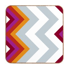 Modernity Solstice Warm Chevron by Karen Harris Framed Graphic Art Plaque