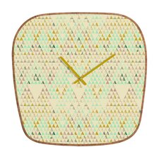 <strong>DENY Designs</strong> Pattern State Triangle Lake Wall Clock