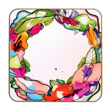 Floral Frame by CayenaBlanca Framed Graphic Art Plaque