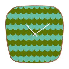 Holli Zollinger Waves of Color Wall Clock