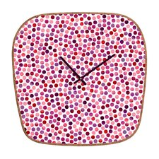 <strong>DENY Designs</strong> Garima Dhawan Watercolor Dots Wall Clock