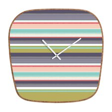 <strong>DENY Designs</strong> Wendy Kendall Multi Stripe Wall Clock