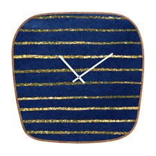 <strong>DENY Designs</strong> Social Proper Nautical Sparkle Wall Clock