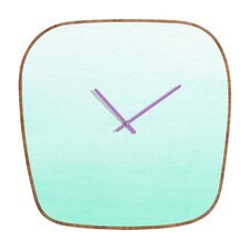 <strong>DENY Designs</strong> Social Proper Mint Ombre Wall Clock