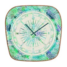 Bianca Follow Your Own Path Mint Clock