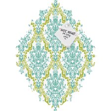 <strong>DENY Designs</strong> Rebekah Ginda Design Lovely Damask Baroque Magnet Board