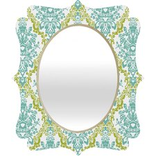 Rebekah Ginda Design Lovely Damask Quatrefoil Mirror