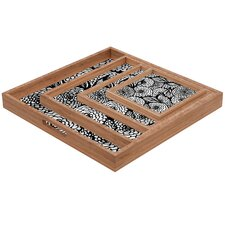 Julia Da Rocha Bouquet of Flowers Love Square Tray