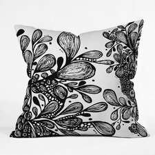 Julia Da Rocha Wild Leaves Throw Pillow