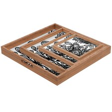 Julia Da Rocha Wild Leaves Square Tray