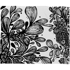 <strong>DENY Designs</strong> Julia Da Rocha Wild Leaves Polyesterrr Fleece Throw Blanket