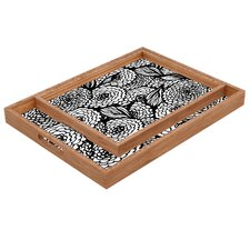 Julia Da Rocha Bouquet of Flowers Love Rectangular Tray