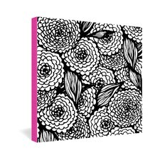 Julia Da Rocha Bouquet of Flowers Love Gallery Wrapped Canvas