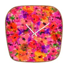 <strong>DENY Designs</strong> Amy Sia Fleur Rouge Wall Clock