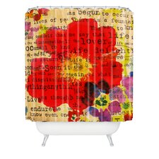 Irena Orlov Poppy Poetry 2 Polyesterrr Shower Curtain