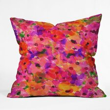 Amy Sia Fleur Rouge Throw Pillow