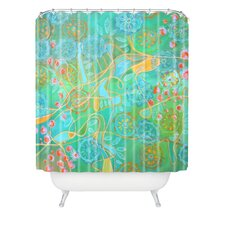Stephanie Corfee Secret Garden Woven Polyesterr Shower Curtain