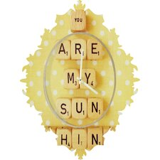 Happee Monkee You Are My Sunshine Wall Clock
