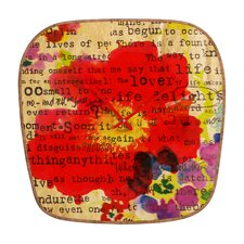 <strong>DENY Designs</strong> Irena Orlov Poppy Poetry Wall Clock