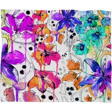 Holly Sharpe Lost in Botanica 1 Polyesterrr Fleece Throw Blanket