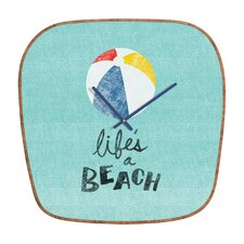 <strong>DENY Designs</strong> Nick Nelson Lifes A Beach Wall Clock