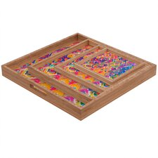 <strong>DENY Designs</strong> Amy Sia Watercolour Ikat 3 Square Tray