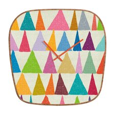 <strong>DENY Designs</strong> Nick Nelson Analogous Shapes Wall Clock