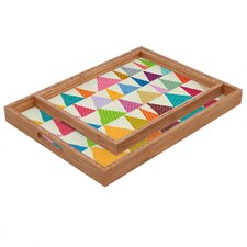 Nick Nelson Analogous Shapes in Bloom Rectangular Tray