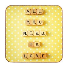 <strong>DENY Designs</strong> Happee Monkee All You Need Is Love 1 Wall Art