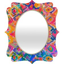Amy Sia Watercolour Ikat 3 Quatrefoil Mirror