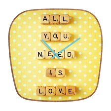 Happee Monkee All You Need Is Love Wall Clock