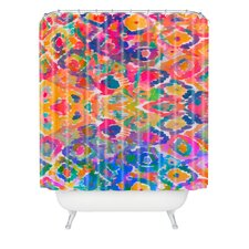 Amy Sia Watercolour Ikat 3 Woven Polyesterrr Shower Curtain