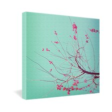 <strong>DENY Designs</strong> Happee Monkee Red Stars Gallery Wrapped Canvas