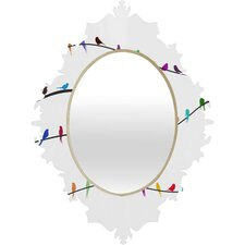 <strong>DENY Designs</strong> Belle 13 Happy Spring Baroque Mirror