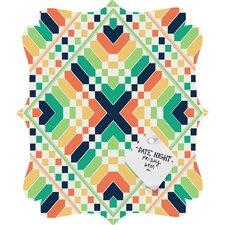 Budi Kwan Retrographic Rainbow Quatrefoil Memo Board