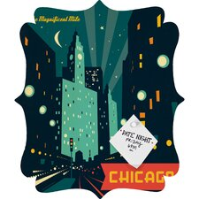 Anderson Design Group Chicago Mag Mile Quatrefoil Magnet Board