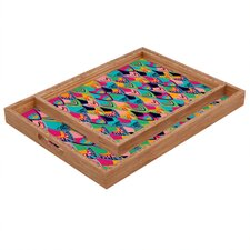 Vy La Love Birds 1 Rectangular Tray