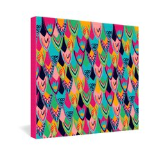Vy La Love Birds 1 Gallery Wrapped Canvas