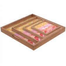 Cori Dantini Warm Spectrum Rainbow Square Tray