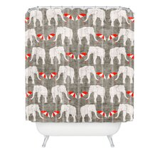 Holli Zollinger Elephant and Umbrella Polyesterrr Shower Curtain