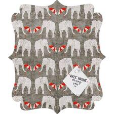 Holli Zollinger Elephant and Umbrella Quatrefoil Memo Board